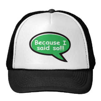 Because I Said So - Green Trucker Hat
