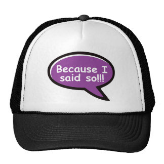 Because I Said So - Purple Trucker Hat