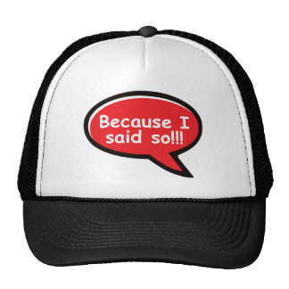 Because I Said So - Red Trucker Hat