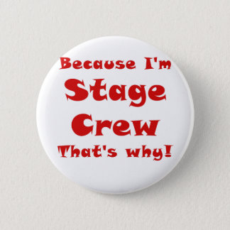 Because Im Stage Crew Thats Why Pinback Button