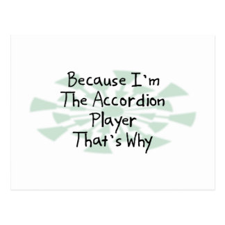 Because I'm the Accordion Player Postcard