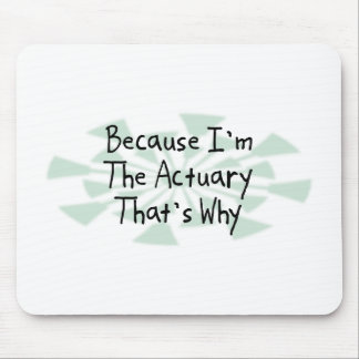 Because I'm the Actuary Mouse Pad