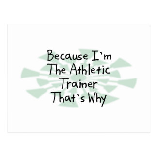 Because I'm the Athletic Trainer Postcard