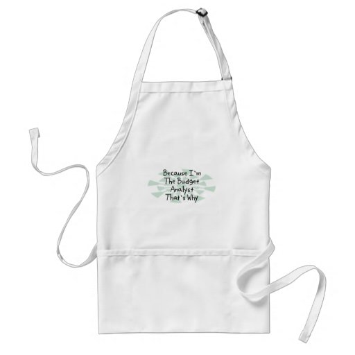 Because I'm the Budget Analyst Adult Apron