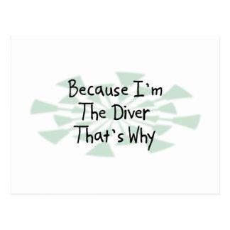 Because I'm the Diver Postcard