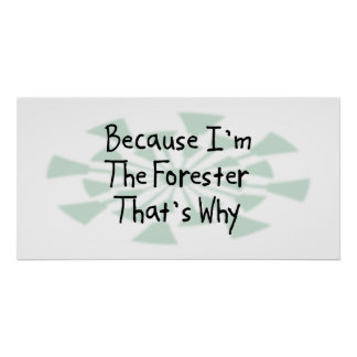 Because I'm the Forester Poster