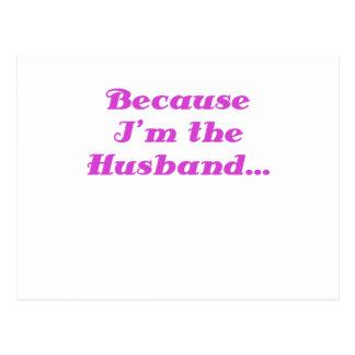 Because Im the Husband Postcard