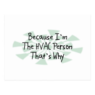 Because I'm the HVAC Person Postcard