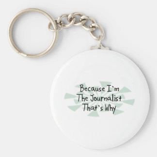 Because I'm the Journalist Keychain