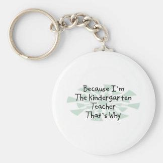 Because I'm the Kindergarten Teacher Basic Round Button Keychain