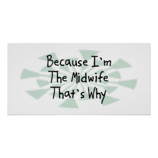 Because I'm the Midwife Print
