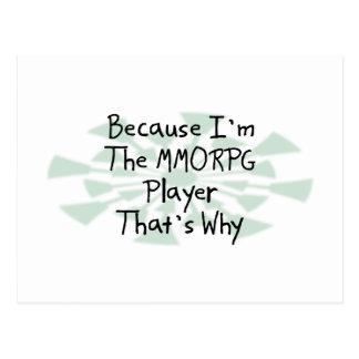 Because I'm the MMORPG Player Postcard