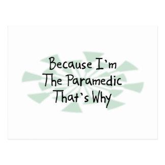 Because I'm the Paramedic Postcard