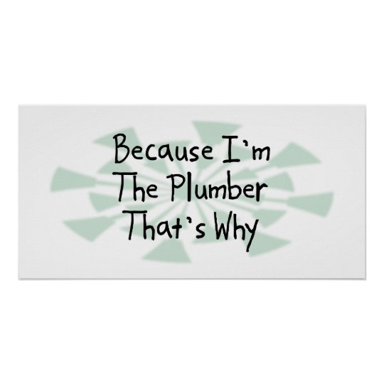 Because I'm the Plumber Poster