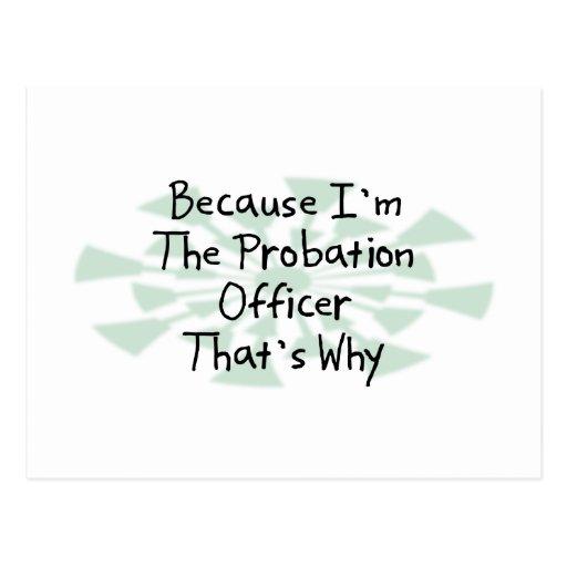 Because I'm the Probation Officer Postcards