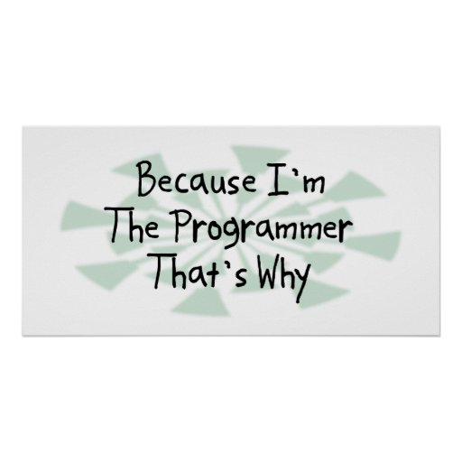 Because I'm the Programmer Poster