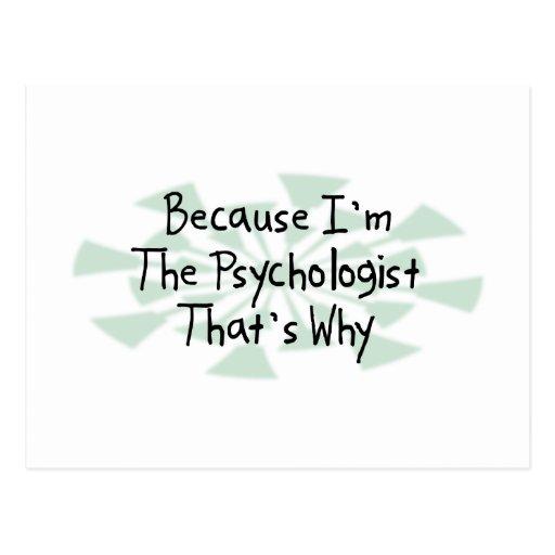 Because I'm the Psychologist Postcards