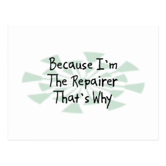 Because I'm the Repairer Postcard