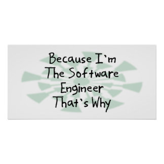 Because I'm the Software Engineer Print