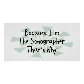 Because I'm the Sonographer Poster