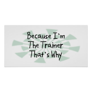 Because I'm the Trainer Poster