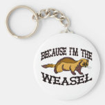Because I'm The Weasel Basic Round Button Keychain