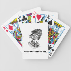 Because Internets Bicycle Playing Cards