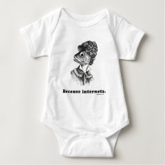 Because Internets Fishlady Baby Bodysuit