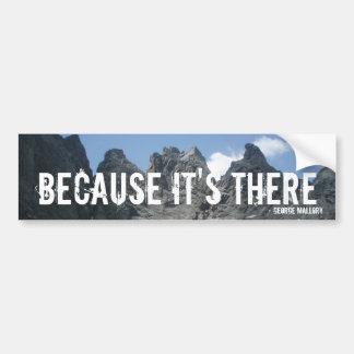 """""""Because It's There"""" Bumper Sticker Car Bumper Sticker"""