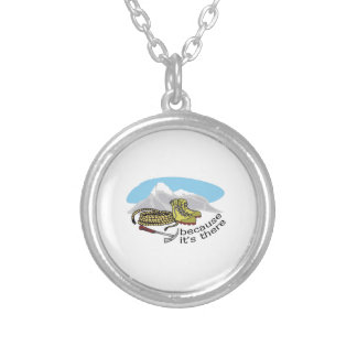 BECAUSE ITS THERE ROUND PENDANT NECKLACE