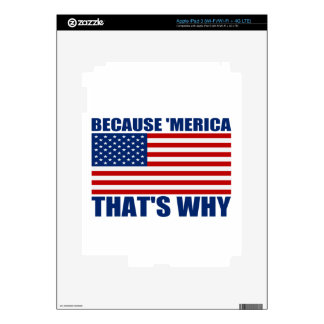 BECAUSE 'MERICA THAT'S WHY iPad 3 DECAL