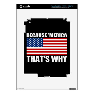 BECAUSE 'MERICA THAT'S WHY DECALS FOR iPad 3