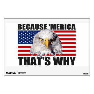 BECAUSE 'MERICA THAT'S WHY US Flag & Eagle Decal