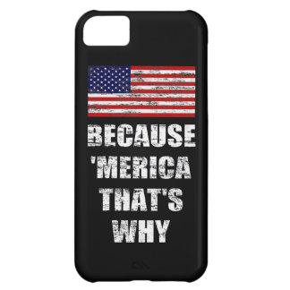 BECAUSE MERICA THAT'S WHY US Flag iPhone 5 Case