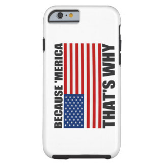 BECAUSE MERICA THAT'S WHY US Flag iPhone 6 case