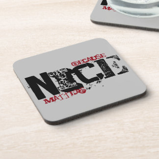 Because Nice Matters Drink Coaster