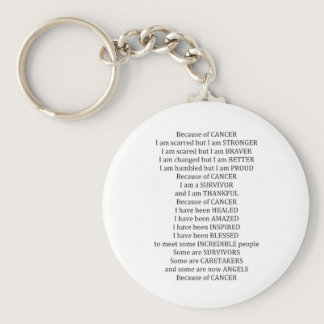Because of Cancer Keychain
