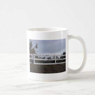 Because of Jesus Classic White Coffee Mug