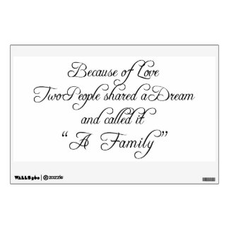Because of Love Wisdom Wall Decal
