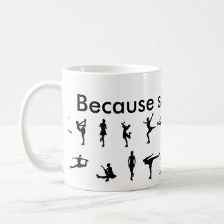 because skating is life coffee mug