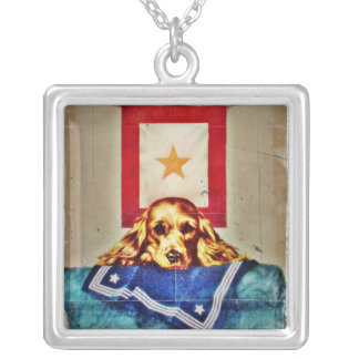 Because Somebody Talked a Sad Pup WWII Custom Necklace