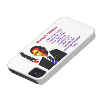 Because What Makes You A Man - Barack Obama Case-Mate iPhone 4 Case