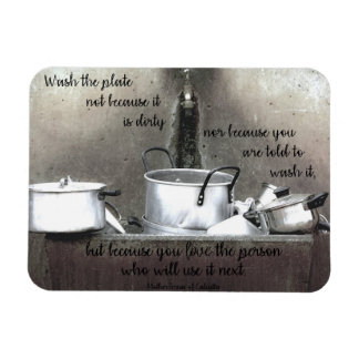 """""""Because You Love"""" Kitchen Magnet"""