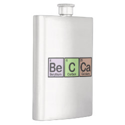 Stainless Steel Flask with Becca made of Elements design