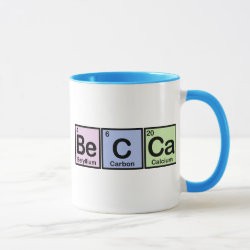 Combo Mug with Becca made of Elements design