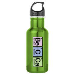 Water Bottle (24 oz) with Becca made of Elements design
