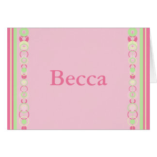 Becca Modern Circles Name Card