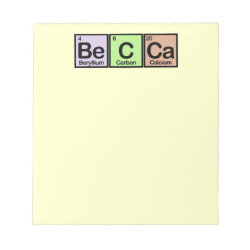 5.5' x 6' Notepad - 40 pages with Becca made of Elements design