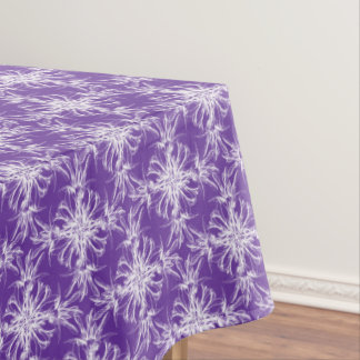 Becca Purple and White Floral Damask Tablecloth
