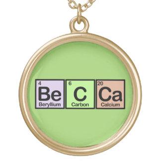 Becca Round Pendant Necklace